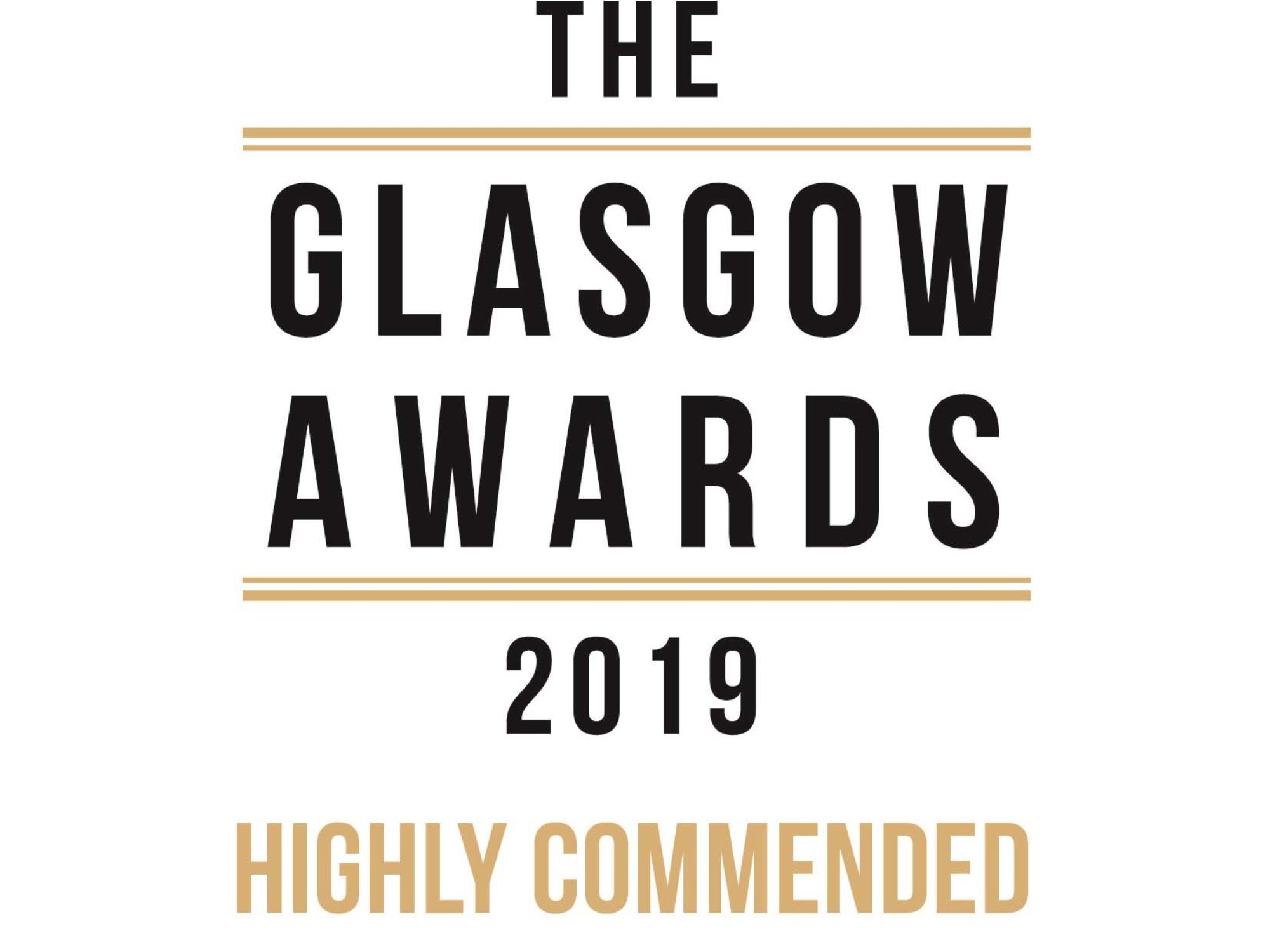 GGG win Highly Recommended Certificate at Glasgow Awards 2019