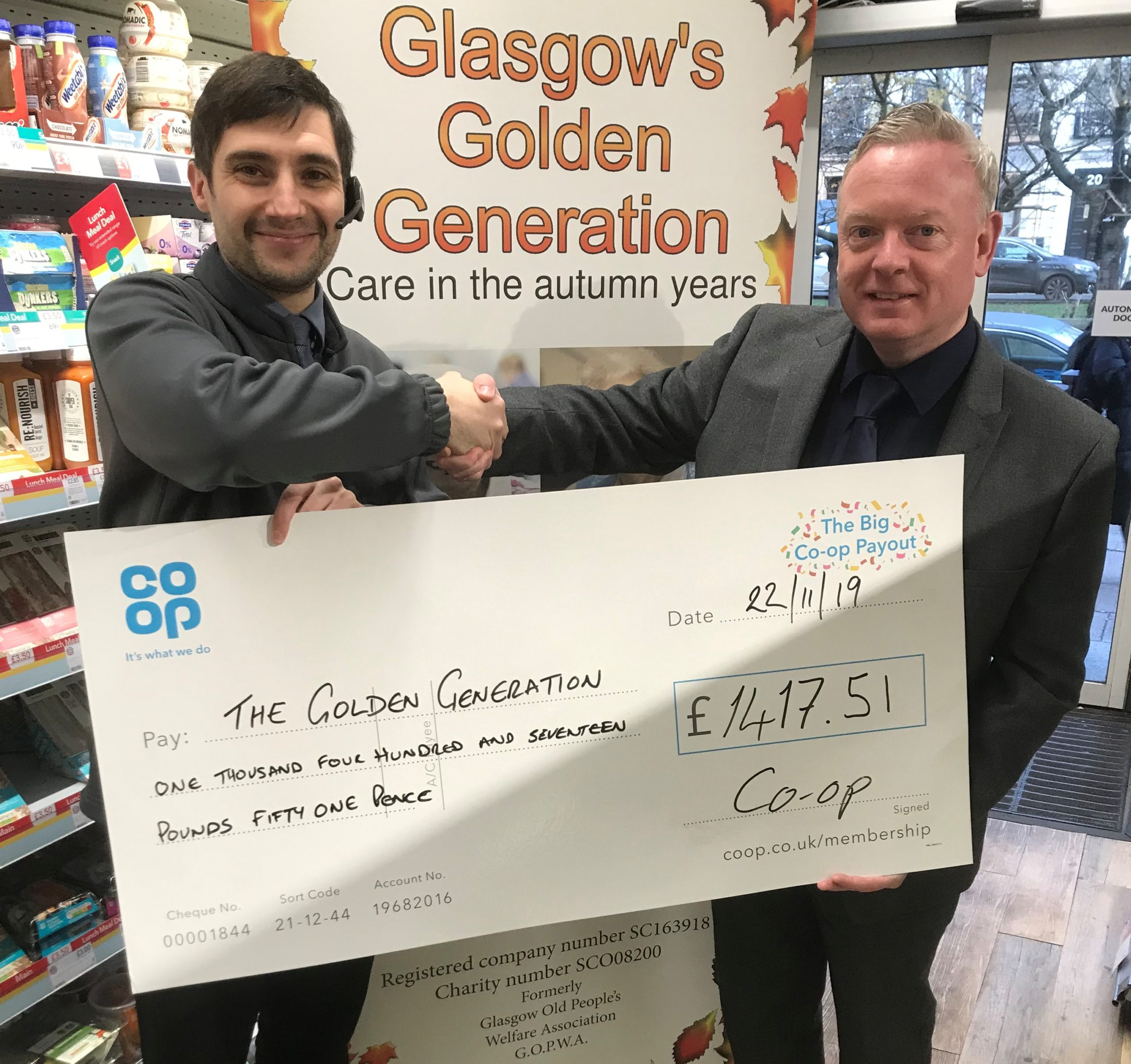 Donation from Co-op